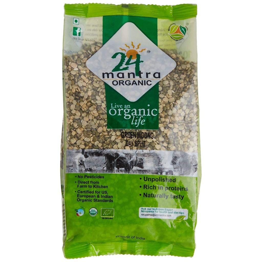 24 Mantra Organic Green Moong Dal Split