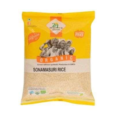 24 Mantra Organic Sonamasuri Raw Rice Polished