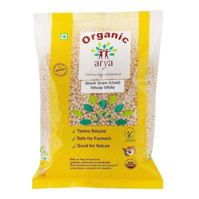 Arya Farm Organic Whole Urad Dal (Black Gram - Skinless)