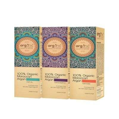 Buy Aryanveda Arganic 100 Percent Moroccan Hair Oil, Shampoo, Tonic Combo Pack