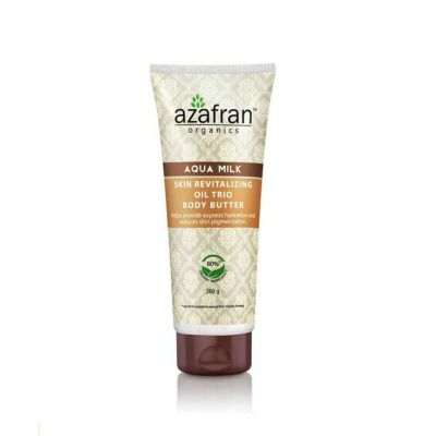Buy Azafran Organics Aqua Milk Skin Revitalizing Oil Trio Body Butter