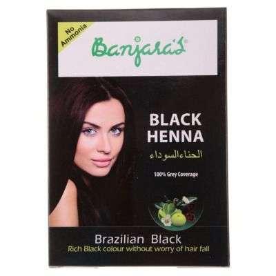 Banjaras Black Henna Hair Colour - Brazilian Black