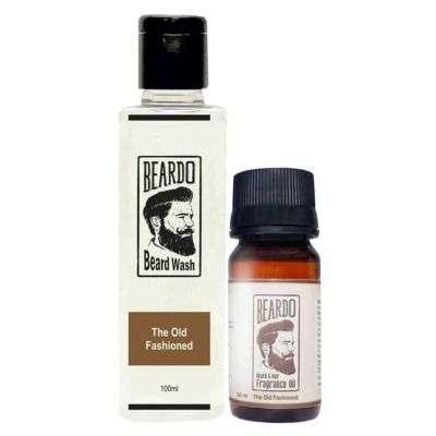 Buy Beardo The Old Fashioned Beard Oil & Beard Wash Combo