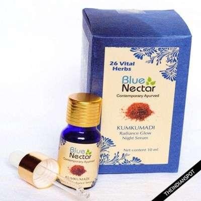 Buy Blue Nectar Kumkumadi Radiance Glow Night Serum