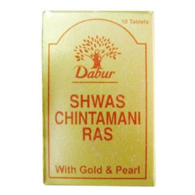 Dabur Shwas Chintamani Ras with Gold