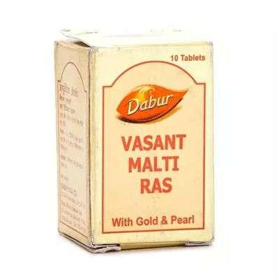 Dabur Vasant Malti Ras with Gold Tablets