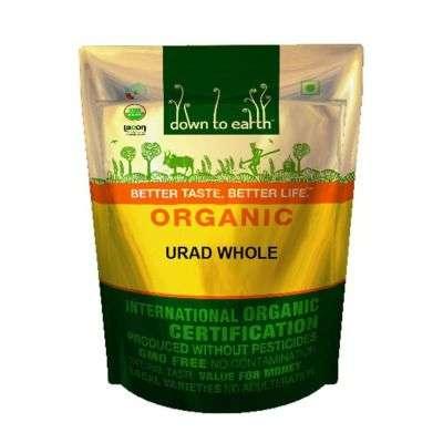 Buy Down to Earth Organic Urad Whole