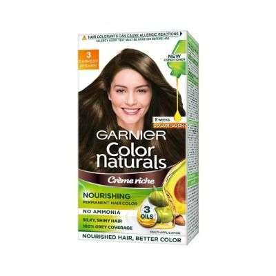 Buy Garnier Color Naturals Creme Hair Color - Shade 3 Darkest Brown