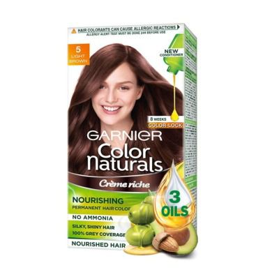 Buy Garnier Color Naturals Creme Hair Color - Shade 5 Light Brown