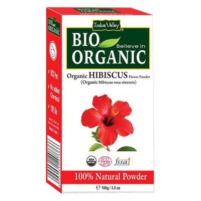 Buy Indus Valley Bio Organic Hibiscus Flower Powder