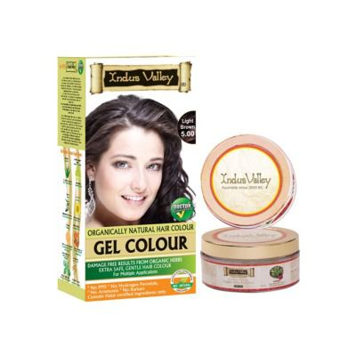 Buy Indus valley Organically Natural Gel Light Brown 5.0 Hair Color- Twin Set