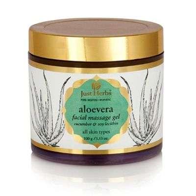 Buy Just Herbs Aloe Vera Facial Massage Gel