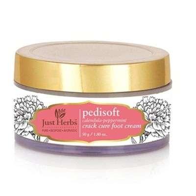Buy Just Herbs Pedisoft Calendula - Peppermint Crack Cure Foot Cream