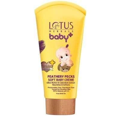 Buy Lotus Herbals Baby+ Feathery Pecks Soft Baby Creme