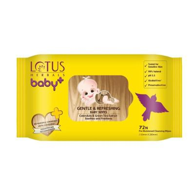 Lotus Herbals Baby + Gentle and Refreshing Baby Wipes