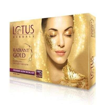 Lotus Herbals Radiant Gold Cellular Glow Single Facial Kit