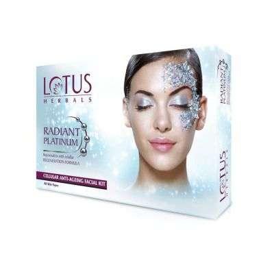 Lotus Herbals Radiant Platinum Cellular Anti-Ageing Single Facial Kit