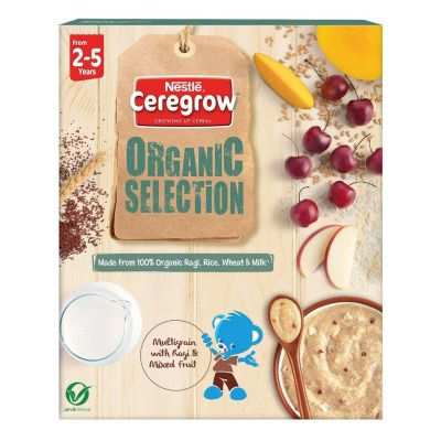 Buy Nestle Ceregrow Organic Selection, Multigrain Cereal with Ragi and Mixed Fruits - From 2 to 5 Years