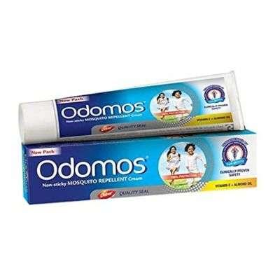 Buy Odomos Non - Sticky Mosquito Repellent Cream with Vitamin E and Almond