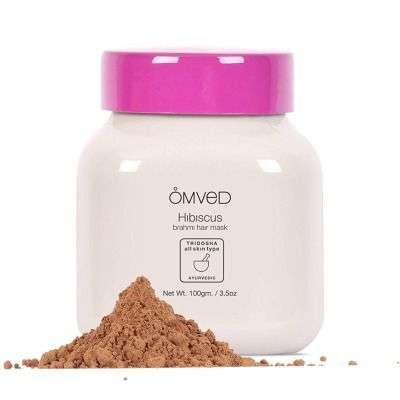 Buy Omved Hibiscus Brahmi Hair Mask - 100% Natural and Ayurevdic Hair Pack