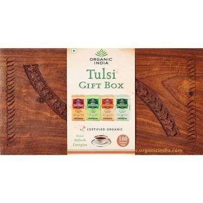 Organic India Tulsi wooden Gift Box