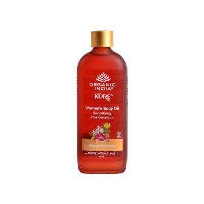 Buy Organic India Womens Body Oil Revitalising Rose Geranium