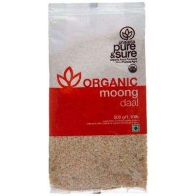 Buy Pure & Sure Organic Moong Dal