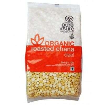 Buy Pure & Sure Organic Roasted Channa