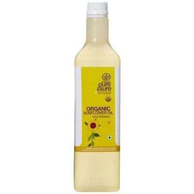 Buy Pure & Sure Organic Sun Flower Oil