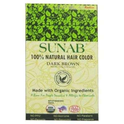 Buy Radico Sunab Herbal Dark Brown Hair Color