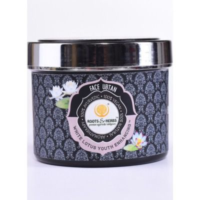 Buy Roots And Herbs White Lotus Youth Enhancing Face Ubtan