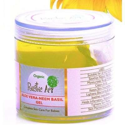 Buy Rustic Art - Organic Aloe Vera - Neem Basil Gel