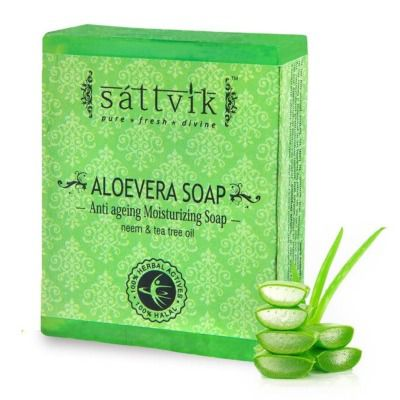 Buy Sattvik Organics Aloe Vera Gentle Anti Aging Soap