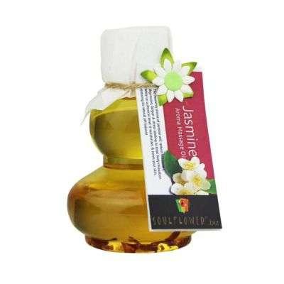 Buy Soulflower Jasmine Aroma Massage Oil