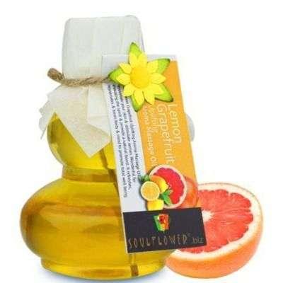 Buy Soulflower Lemon grapefruit Aroma Massage Oil