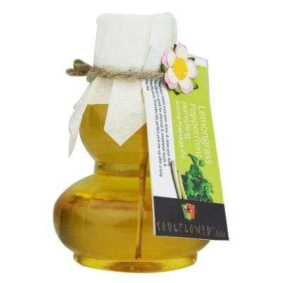 Buy Soulflower Lemongrass Peppermint Refreshing Aroma Massage Oil