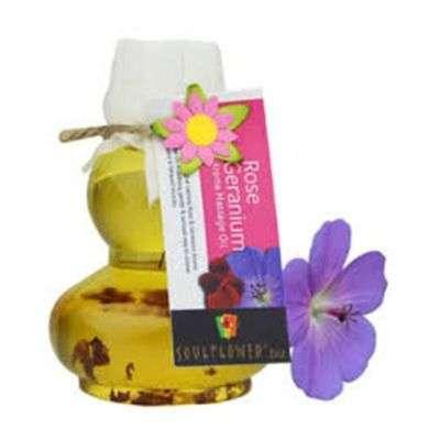 Buy Soulflower Rose Geranium Aroma Massage Oil