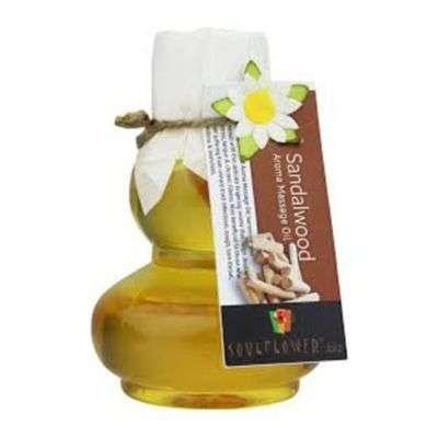 Buy Soulflower Sandalwood Sandalwood Aroma Massage Oil