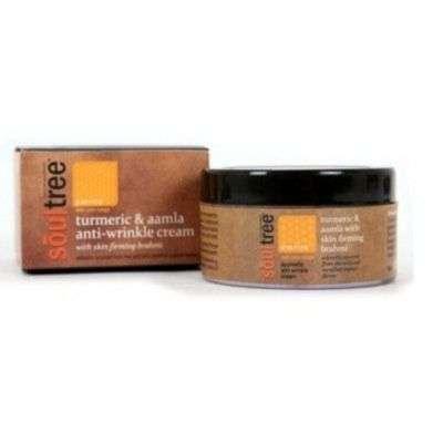 Buy SoulTree Turmeric & Aamla Anti Wrinkle Cream with Skin Firming Brahmi