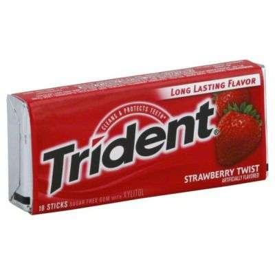 Buy Trident Sugar Free Gum Strawberry Twist