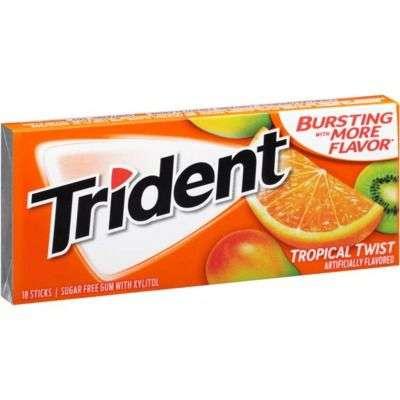 Trident Tropical Twist Sugar Free Mint