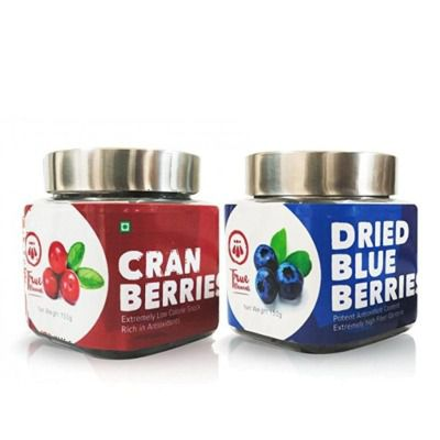 True Elements healthy berries combo assortment (dried cranberries, dried blueberries)