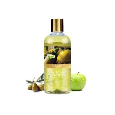 Buy Vaadi Herbals Breezy Olive and Green Apple Shower Gel