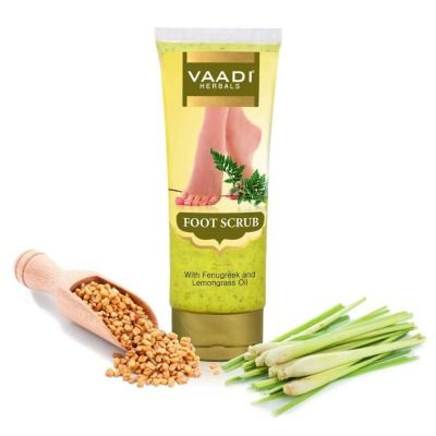 Buy Vaadi Herbals Foot Scrub with Fenugreek and Lemongrass Oil