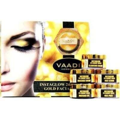 Buy Vaadi Herbals Instaglow 24 Carat Gold Facial Kit