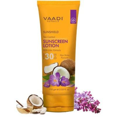 Buy Vaadi Herbals Sunscreen Lotion SPF 30 with Lilac Extract