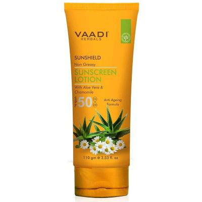 Buy Vaadi Herbals Sunscreen Lotion SPF 50 with Aloe Vera and Chamomile