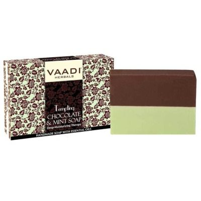 Vaadi Herbals Tempting Chocolate and Mint Soap - Deep Moisturising Therapy