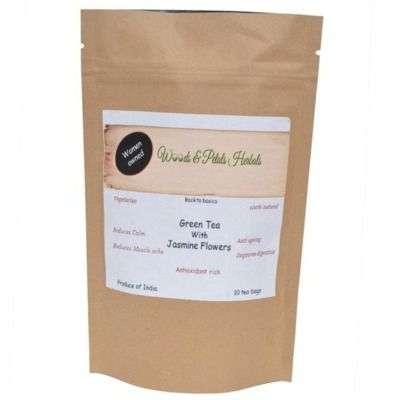 Buy Woods and Petals Darjeeling Green Tea with Jasmine Flower