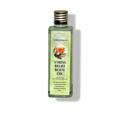 Buy Woods and Petals Stress Relief body Massage oil